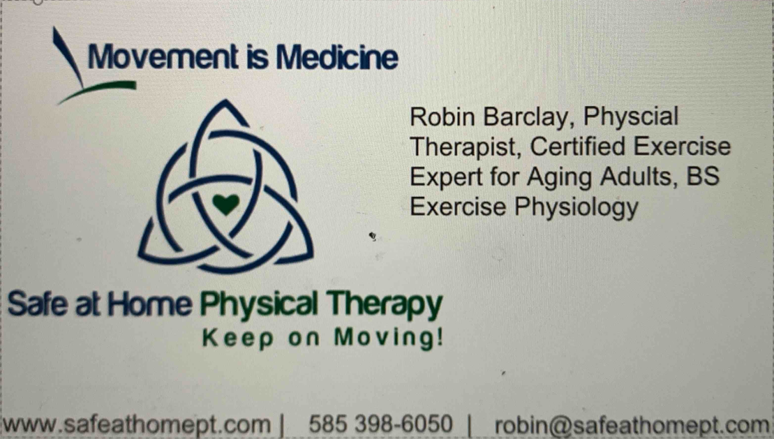 Robin Barclay, Physical Therapist